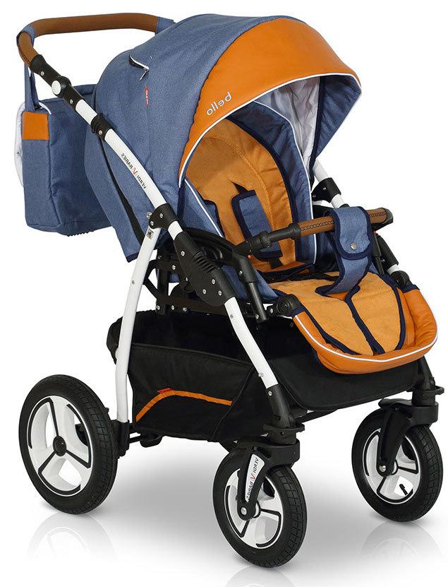 Прогулочная коляска Verdi Bello New2021 №07 (Синий/Оранжевый)