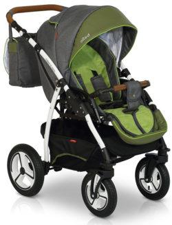 Прогулочная коляска Verdi Bello New2021 №08 (Серый/Зеленый)